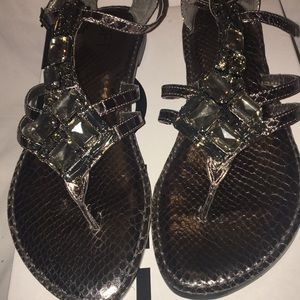 Anne Taylor sandals with stones 7 EUC